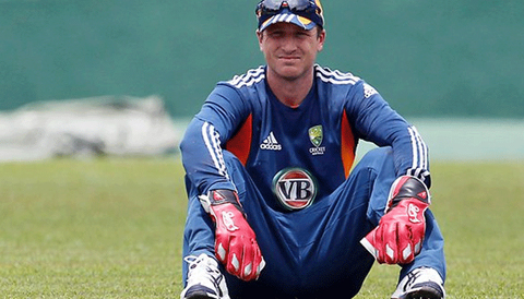 Australian wicketkeeper Brad Haddin mocks Black Caps