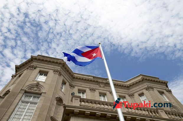 Cuba opens Washington embassy, urges end to embargo