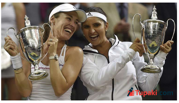 Sania Mirza Martina Hingis win women doubles title