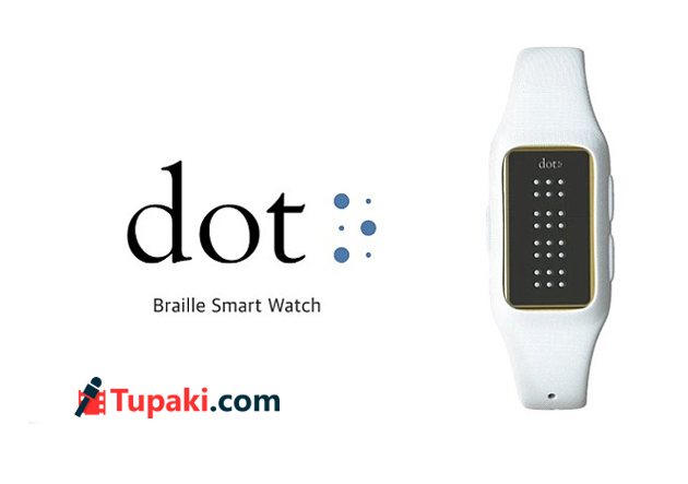 Braille smartwatch lets blind people read text messages and e books