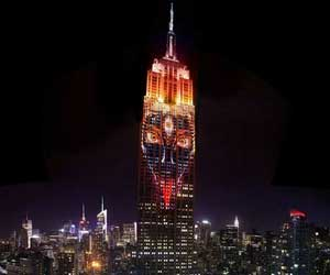 Goddess Kali showcased on the Empire State building in NYC