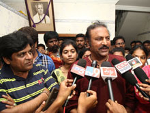 Mohan Babu at Dynamite Movie Premiere Show at Tirupati (PICS)