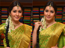 Rashi Khanna Launches Kanchipuram Kamakshi Photos (PHHOTOS)