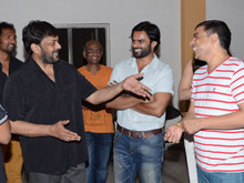 Chiranjeevi Watches Supreme Movie Photos