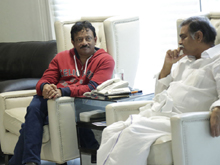 RGV Meets Devineni and Vangaveeti Families Photos