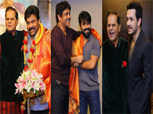 TSR Felicitates Chiranjeevi Success Party Photos