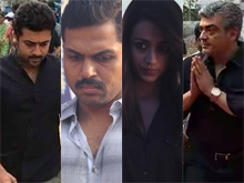 Tamil Stars at Jallikattu Hunger Strike Photos