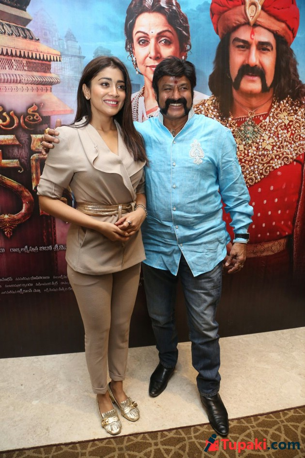 Balakrishna and Shriya GSPK Interview Photos