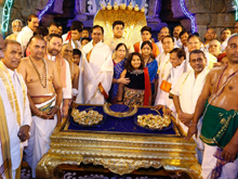 KCR Donates Gold Worth Rs 5 Cr at Tirumala Photos