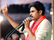 Pawan kalyan At Cheneta Garjana Photos