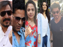 Celebs Cast Their Vote in BMC Election 2017 Photos