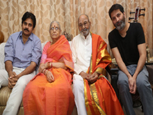 Pawan Kalyan and Trivikram Meets K Vishwanath Photos