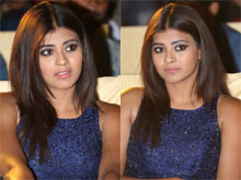 Hebah Patel At Andhhagadu Pre Release Event Photos