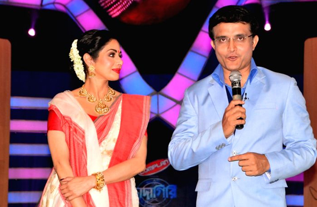 Sourav Ganguly shakes a leg with Sridevi on his Bengali chat