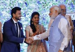 Kinjarapu Ram Mohan Naidu Wedding Reception Photos