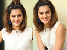Taapsee Anando Brahma Interview Photos