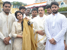 Lie Movie Team Visits Tirumala Photos