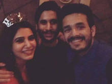 Samantha and Naga chaitanya Bachelorette Party Photos