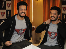 Akhil at Hyderabad Football League Event