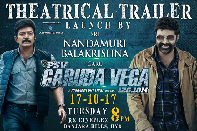 Balakrishna TO Launch Rajasekhar Garuda Vega Trailer