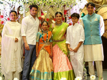 Mahesh Babu Sister Manjula Daughter Half Saree Function Photos