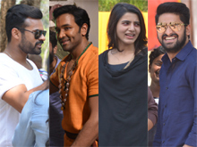 Celebs at Balakrishnudu Movie Shooting Spot Photos