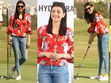 Kajal agarwal At Cancer Crusaders Invitation Cup Photos