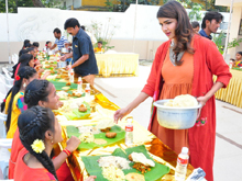 Lakshmi Manchu Celebrates Sankranthi Festival With Students Photos