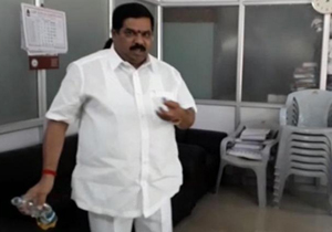 Congress Leader Sprinkles Petrol Inside Municipality Office