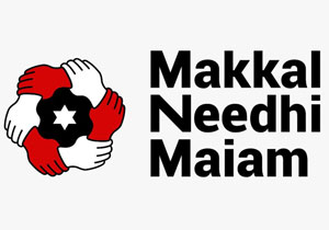 Kamal Haasan Party Name MAKKAL NEEDHI MAIAM and Flag