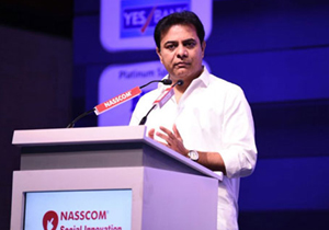 Minister KTR Addressing The Delegates During Nasscom Social Innovation Forum