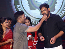 Vakkantham Vamsi Birthday Celebrations at Naa Peru Surya sets