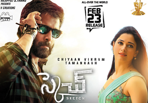 Vikram and Tamanna on About Sketch movie Promotions
