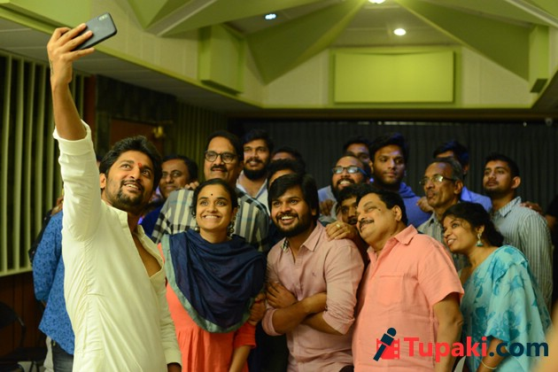 Nagarjuna and Nani Multistarrer Movie Songs Recording Photos