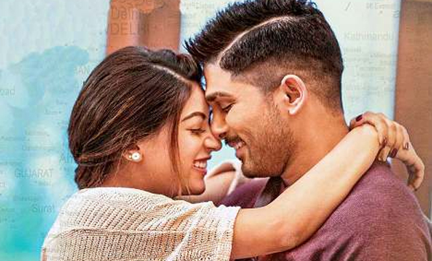 allu arjun trims romantic scenes from naa peru surya movie