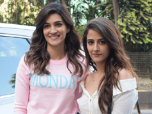 Kriti Sanon And Nupur Sanon Spotted At Juhu Photos
