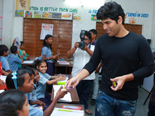 Allu Sirish At Government Primary School Photos