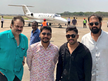 Allu ARjun Enroute to Milatary Madhavaram for Naa Peru Surya Audio Launch Photos