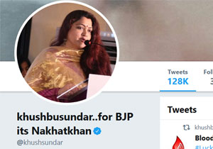 Kushboo Changes Her Name In Twitter For BJP