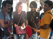Telugu Comedy Artists Spotted at Doha Airport Photos