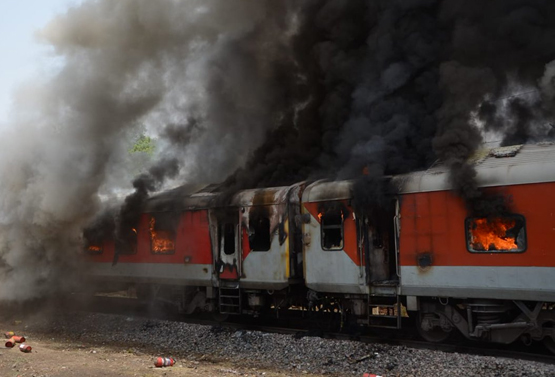 Andhra Pradesh AC Superfast Express catches fire near Gwalior