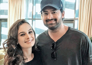 Prabhas doubles up as Evelyn Sharma language tutor