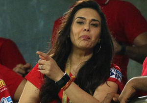 Preity Zinta celebrates Mumbai Indians Exit from IPL