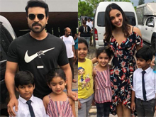 Ram Charan And Kiara Celebrates Child artist Aadya Arnav birthday At RC12 Sets Photos