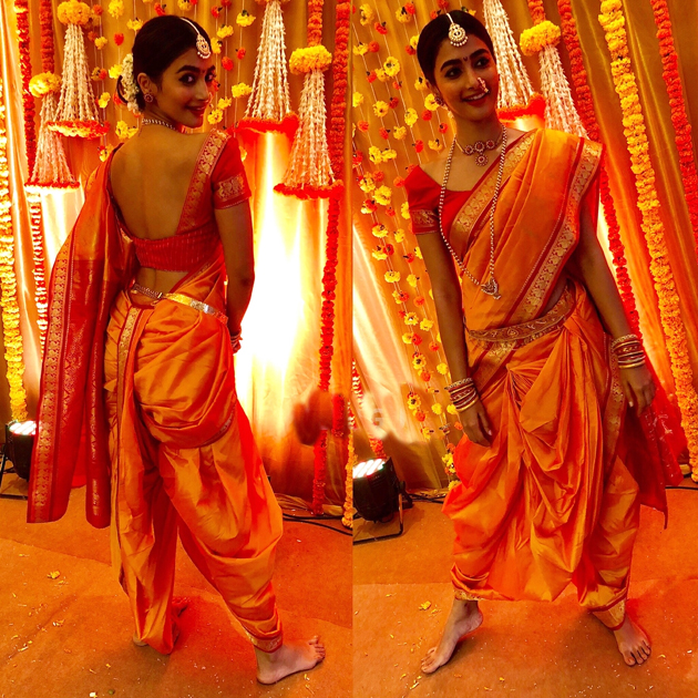 Pooja Hegde In Maharashtrian Look Photos