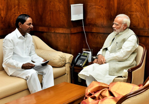 CMO Maitain Silence on about KCR and Modi Meeting