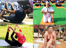 Celebs Doing #Yoga During #YogaDay Photos