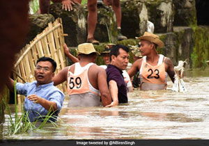 Manipur IAS Officer Praised For Leading Flood Relief In Waist-Deep