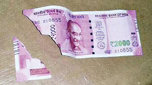 No place in RBI rules for soiled 2,000 notes