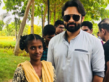 Sai Dharam Tej Meets Cancer Patient Bangaramma Photos